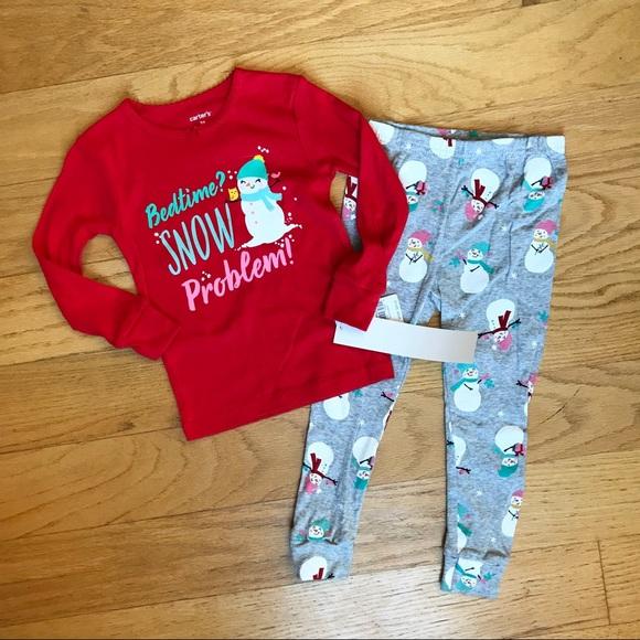 Carter's Other - NWT Carter's snowman pajamas